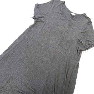 LuLaRoe Dark Gray Stretchy Hi Low Carly Dress Sz L